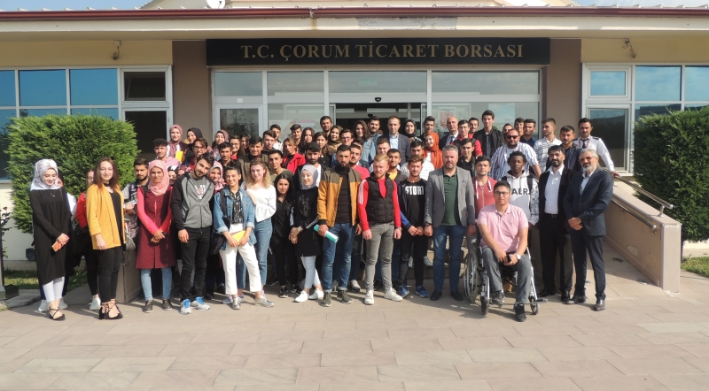 Çorum Hitit University Students Visit to the Commodity Exchange
